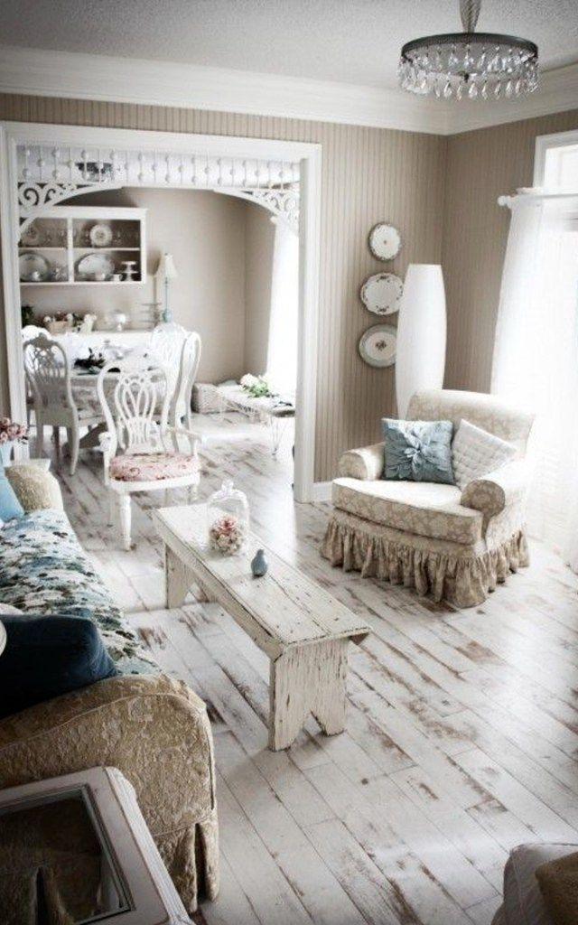 Die besten 25+ shabby chic Holzböden Ideen auf Pinterest trübe - wohnzimmer ideen shabby chic