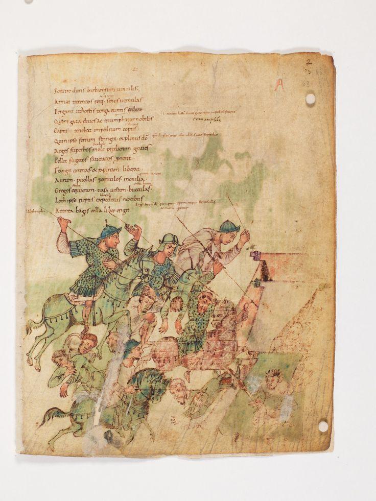 Bern, Burgerbibliothek, Cod. 264, Prudentius, Carmina, p.63, region of Lake Constance, around 900