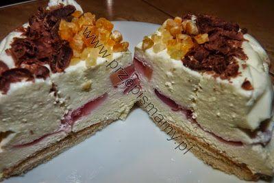 www.przepismamy.pl: Ciasto serowo śmietankowe na biszkoptach