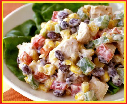 weight watchers recipes: weight watchers best recipes | Tex-Mex Chicken Salad PointsPlus 6
