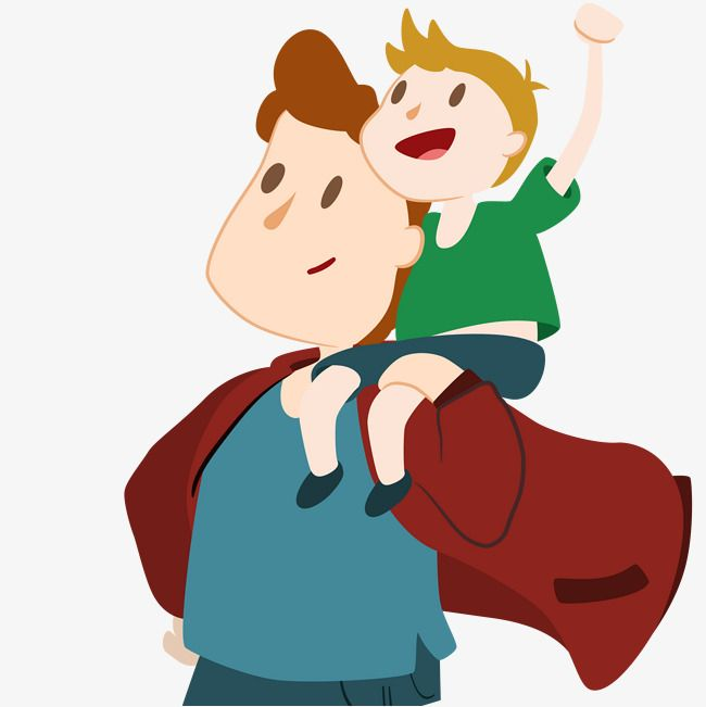 Cartoon Son To Do Fathers Shoulder Cartoon Clip Art Father And Son Cartoon