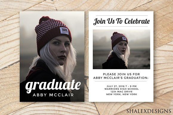 Graduation Template Hipster. Invitation Templates