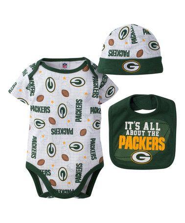 Look at this #zulilyfind! Green Bay Packers Bodysuit Set - Infant #zulilyfinds