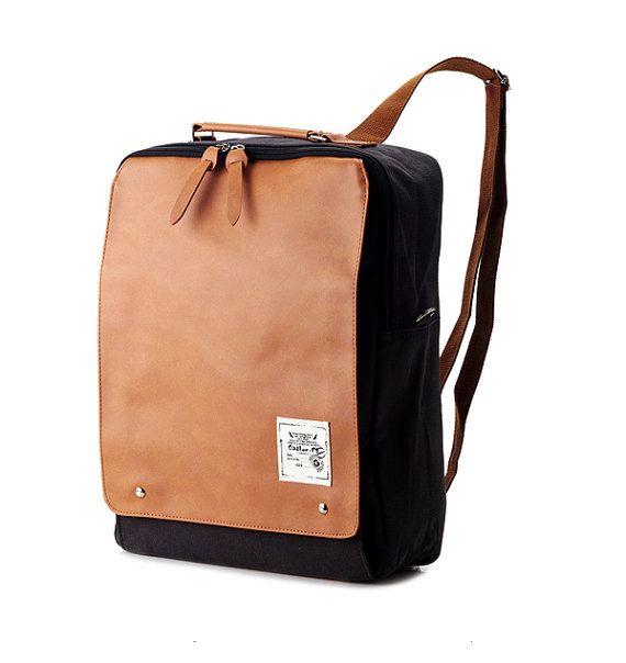 New Square Backpack Charcoal Gray от BagDoRi на Etsy