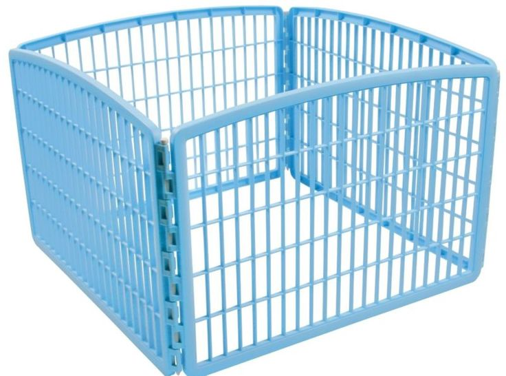 DOG PLAY PEN Iris Indoor Outdoor Puppy Cage Exercise Kennel Folding Crate Fence