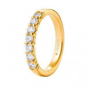 Anillo de diamantes de oro amarillo 18k 74A0059   Argyor