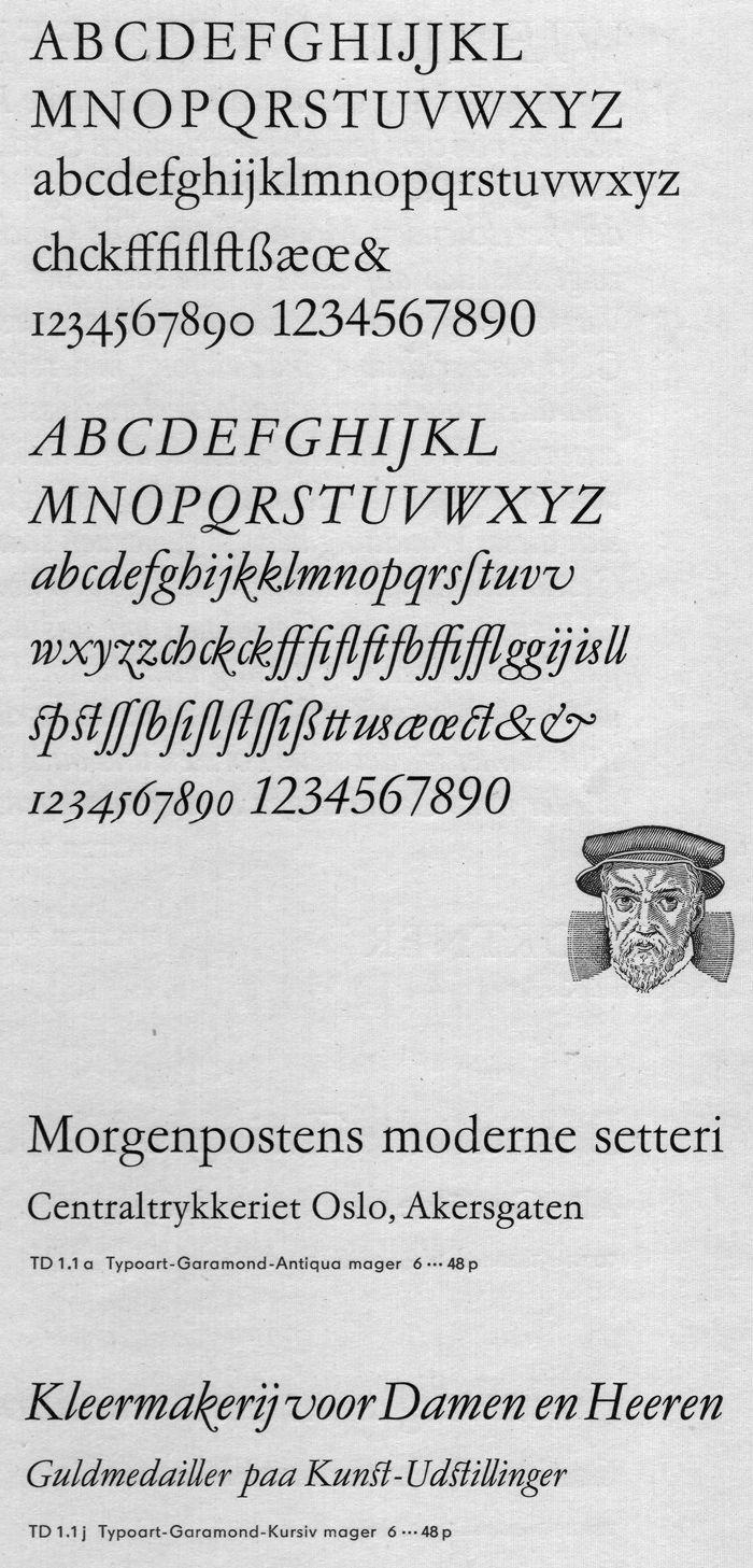 Typoart Garamond - Font-Wiki - Typografie.info