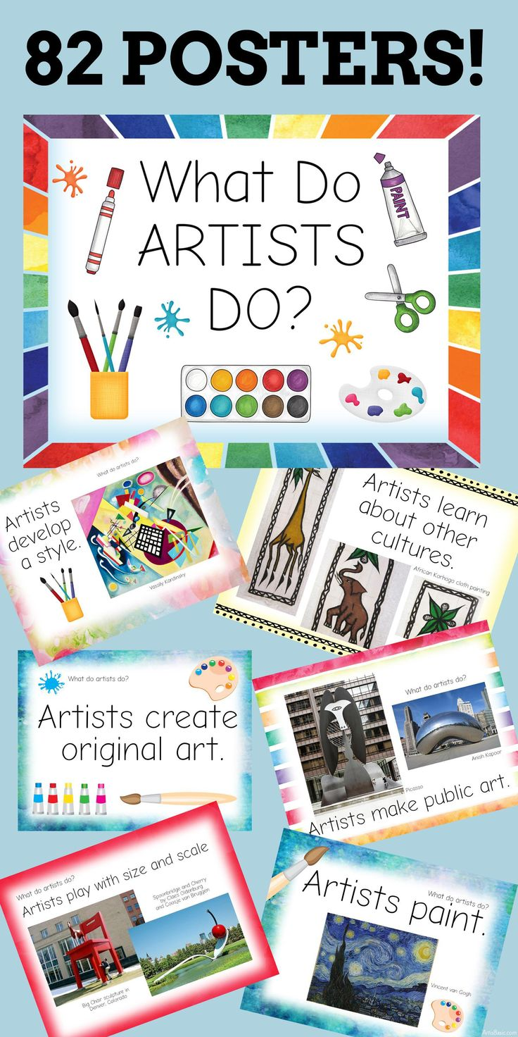 Huge Printable Art Advocacy List! What Do Artists Do? Elementary SchoolsElementary  Art RoomsHigh ... Part 98