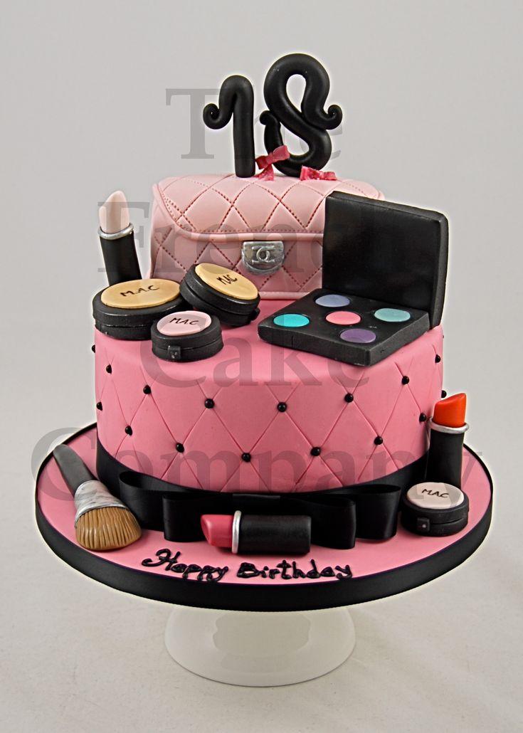 The 25 Best Makeup Birthday Cakes Ideas On Pinterest