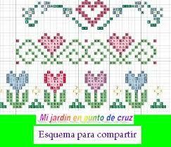 resultado de imagen para punto de cruz cenefas para beb