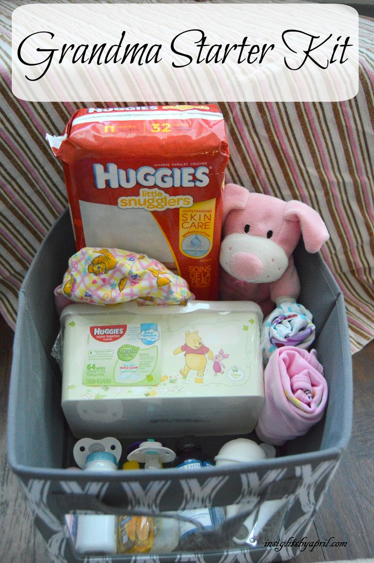 Bring a new gift to baby showers by making a Grandma Starter Kit, so grandma can have supplies and relieve stress on mom knowing supplies are available. #SkinCareForBaby #CollectiveBias AD