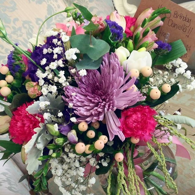 Happy Birthday Daniella!!! How gorgeous are these flowers from Bliss flowers  they also do bridal bouquets and arrangements. The staff are fantastic, love their work.