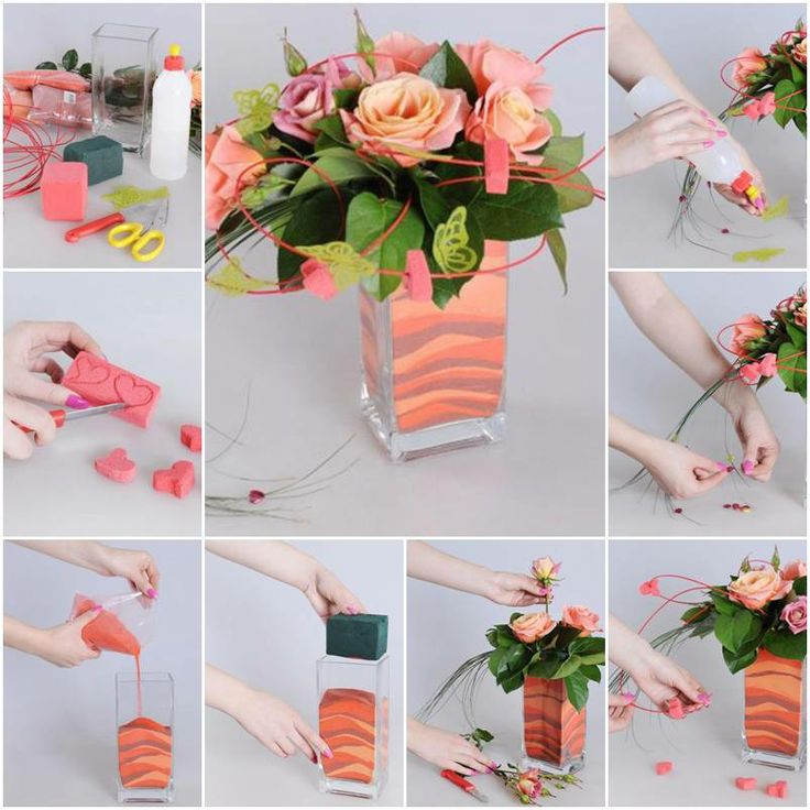 Diy mini house with matches vase decorations handmade - Flower vase decoration ideas ...