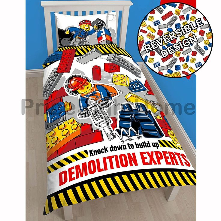 Lego City Demolition Single/US Twin Duvet Cover Set //Price: $18.93 & FREE Shipping //     #bedding