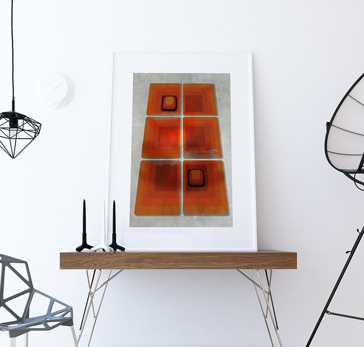 Etsy shop We love CMYK has some great art prints. This one is especially fine, of classic seventies shapes given a twist by adding perspective and a white border. It looks fab in a thoroughly modern interior.