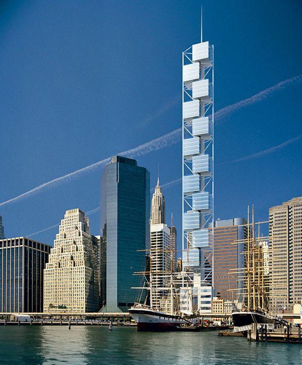 Проект кондоминиума на 80-й улице в Нью-Йорке. Здание будет состоять из двенадцати кубов, по четыре этажа каждый, заключенных в стальную конструкцию.