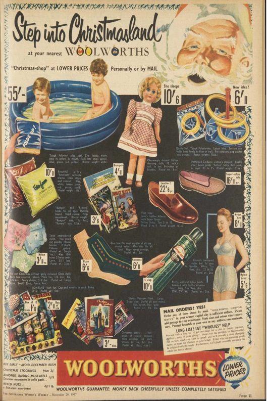 Australian Woman's Weekly Nov 20 1957, Woolworths Christmas