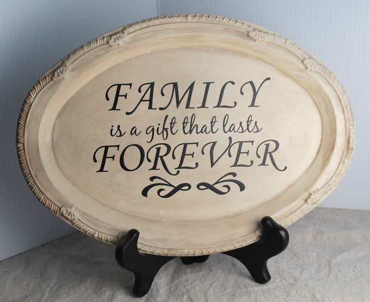 dollar store spray painted platter!  ~Get vinyl supplies at http://cricketvinylsupplies.com