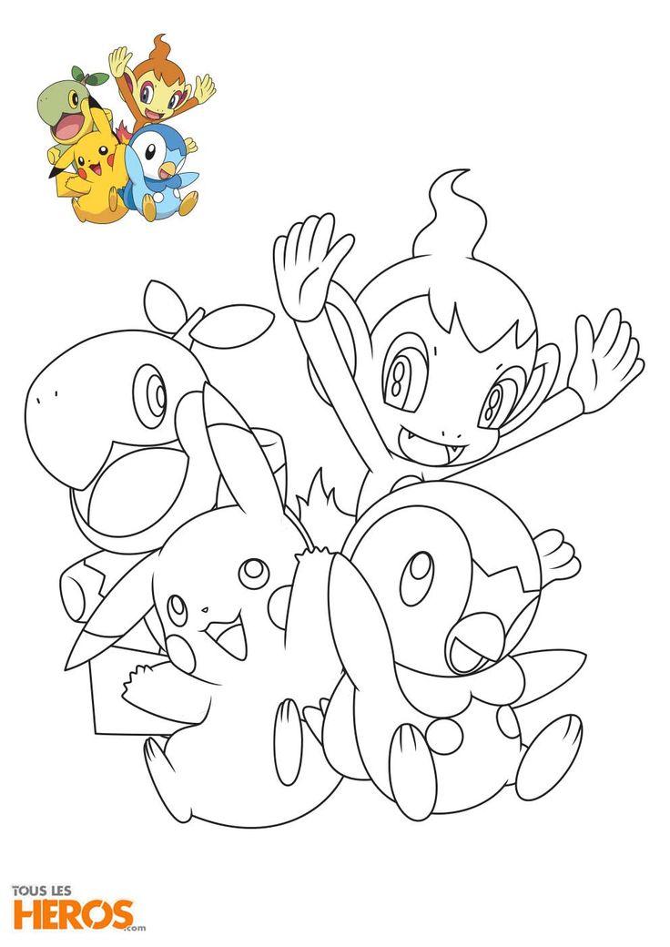 Cette semaine tous les h ros vous propose d 39 imprimer les - Coloriage pokemon imprimer ...