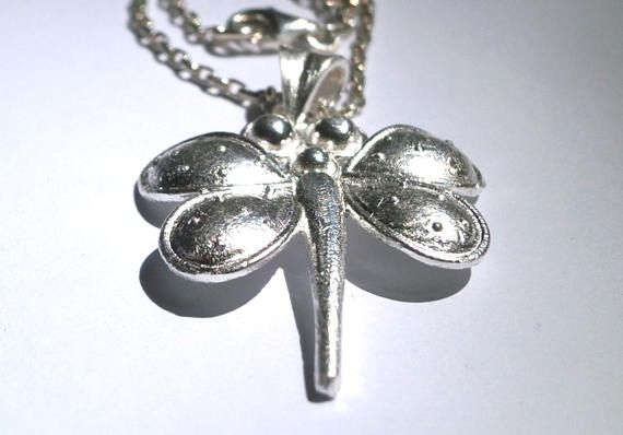 Dragonfly Necklace Sterling Silver Dragonfly Pendant