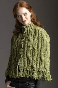 Free Tahki donegal tweed cape pattern.