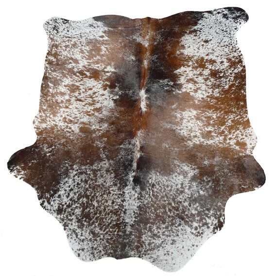 Cowhide Rug - Cow Hide - Brown - Tricolor - Exotic - Brazilian - Pelt -  Hair on Hide - Longhorn - Fur Rug - Leather - Speckled -