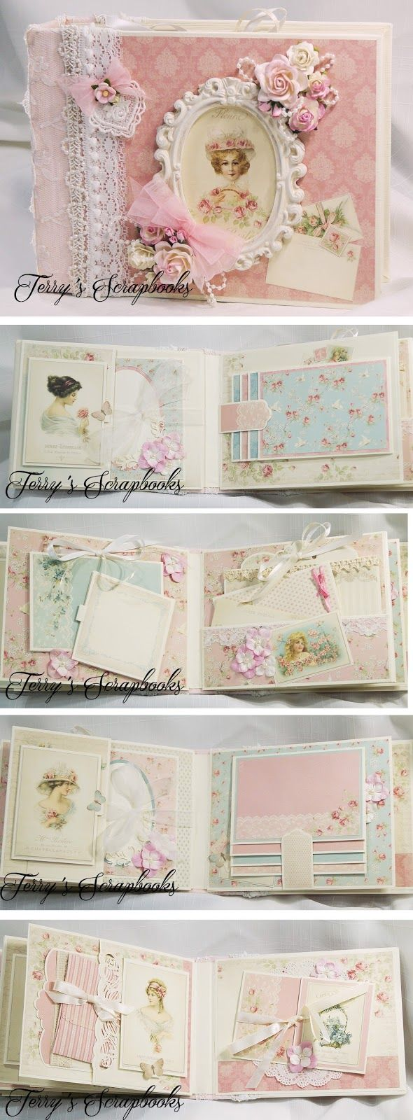 Terry's Scrapbooks: Pion Designs Paris Flea Market Scrapbook Mini Albu...