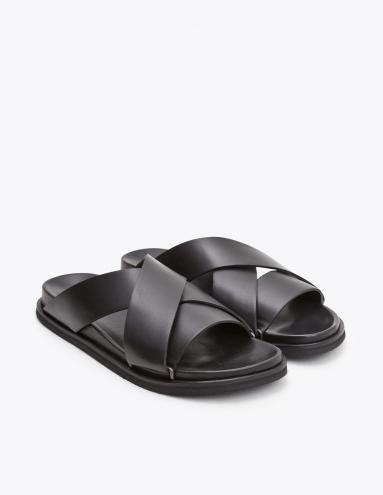 Maison Margiela Crossover Leather Sandals cheap sale real clearance pay with paypal 9jbjz