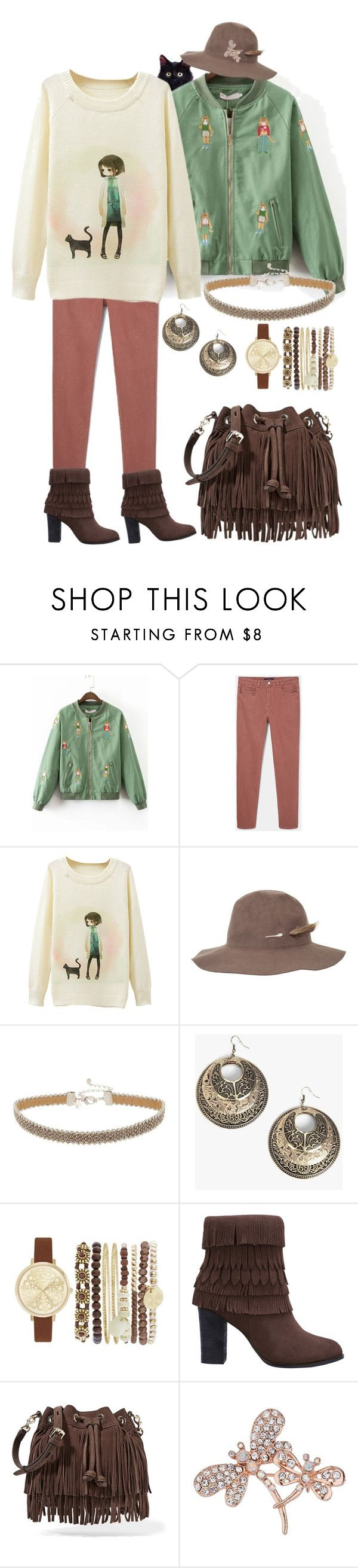 """""""Once there was an Amazing cat named Jewel."""" by ms-ironickel ❤ liked on Polyvore featuring Violeta by Mango, Brixton, Miss Selfridge, Boohoo, Jessica Carlyle, Rebecca Minkoff and Dorothy Perkins"""