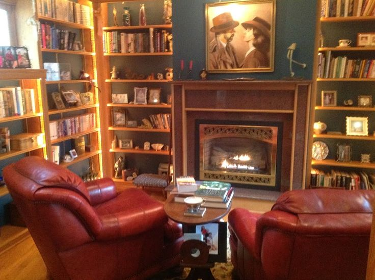 Nora Roberts' home library.  Seen in the blog post: http://fallintothestory.com/to-do-lists/