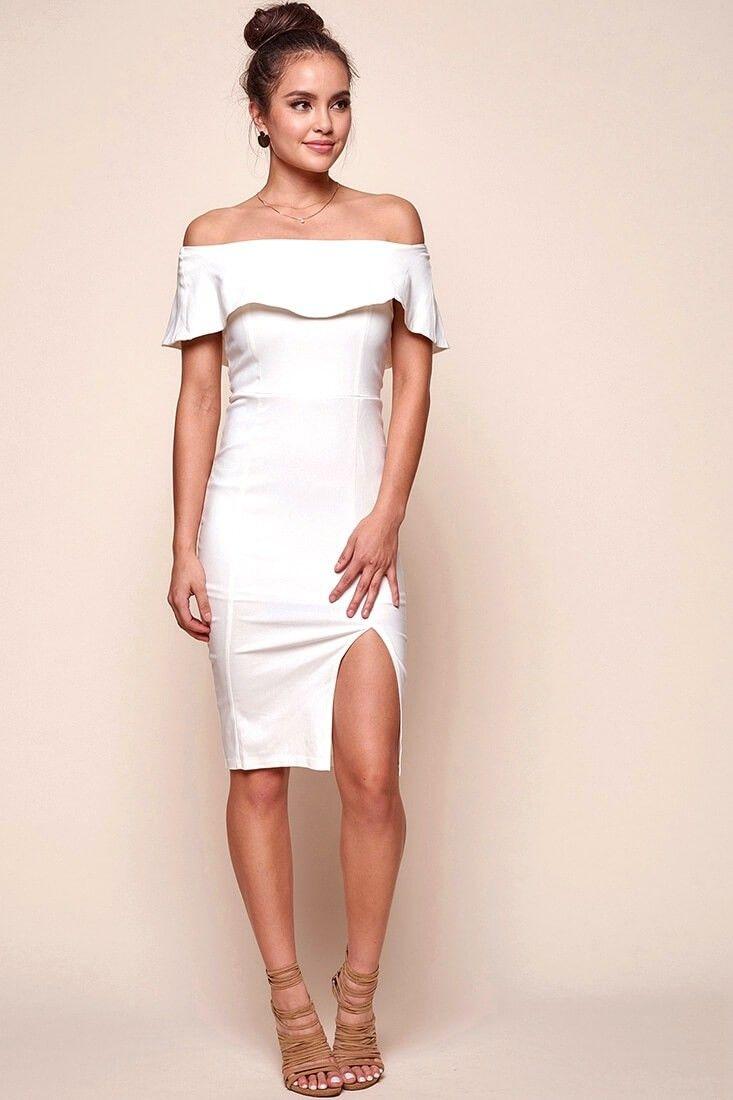 5e9c7d664e343 Alina Elegant Bodycon Dress White   Wedding Looks <3   Dresses ...