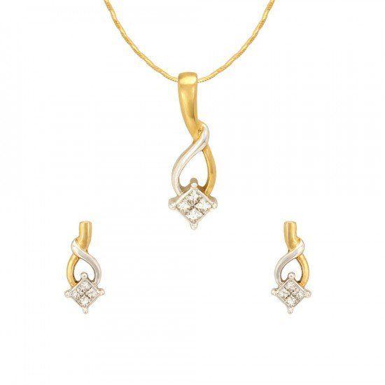 golden pendant set