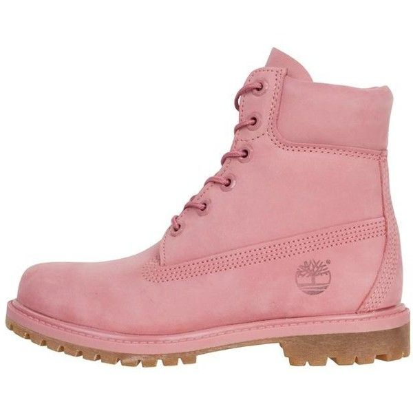 Timberland Womens 6 Inch Premium Dusty Rose (225 AUD) ❤ liked on Polyvore featuring accessories