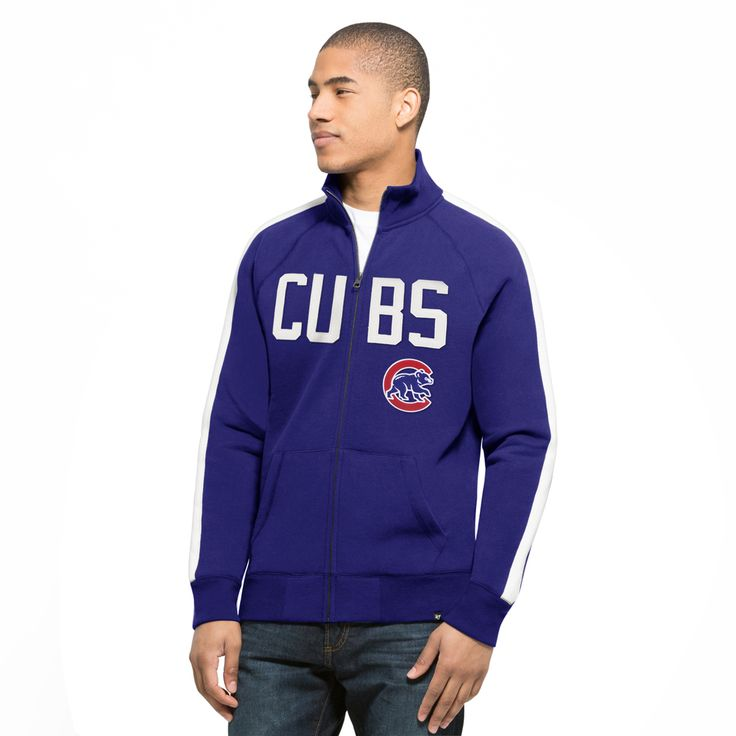 Chicago Cubs Royal Sport Track Jacket  #ChicagoCubs #Cubs #FlyTheW #MLB #ThatsCub