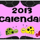 Australian Calendar for 2013. Bright and bubbly for use in classroom or home. Resize to A3 for class use....