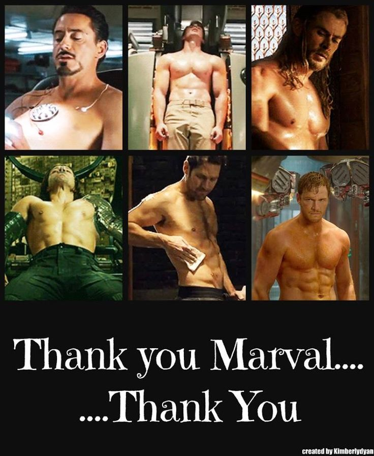 The only thing I don't like about this pic is whoever made it can't even spell Marvel correctly...I just pinned it because, well, hot superheroes in my fandom.