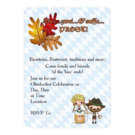 Lassen Sie die Party Oktoberfest-Party Einladungen anfangen | Zazzle – Great Oktoberfest Party Invitations
