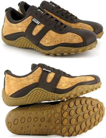"""Eco-friendly """"Cork"""" shoes.  From Vegetarian Shoes.  $109.00"""