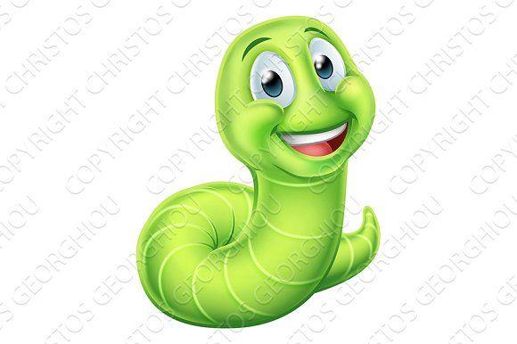 Caterpillar Worm Cartoon Character Cute Cartoon Characters Cartoon Characters Character
