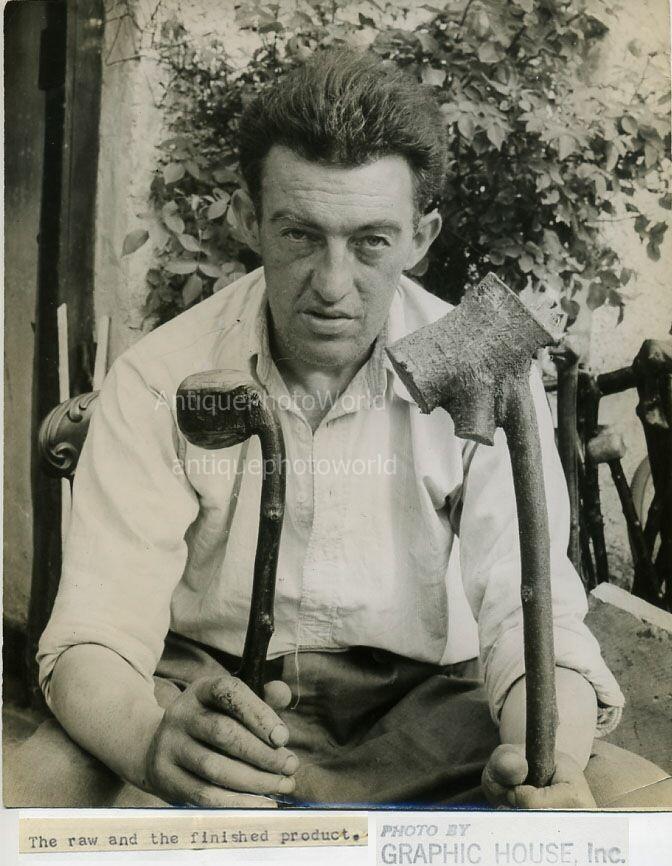 An Irish shillelagh maker from the 1940's.