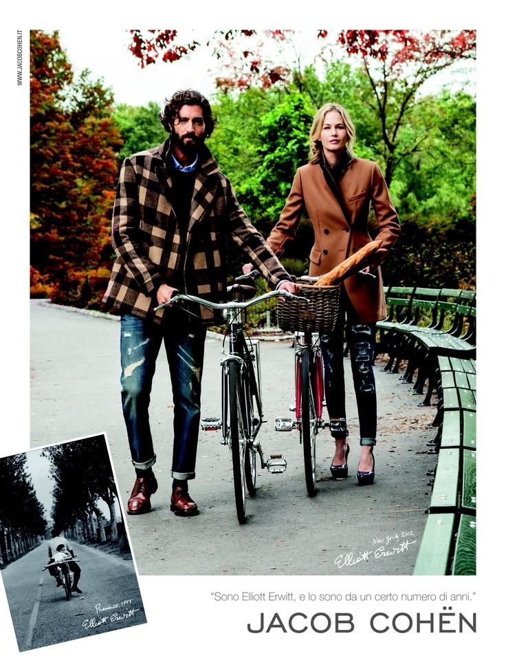Jacob Cohen Advert by Elliott Erwitt #JacobCohen #Advert #ElliottErwitt #denim #jeans #tailoredjeans