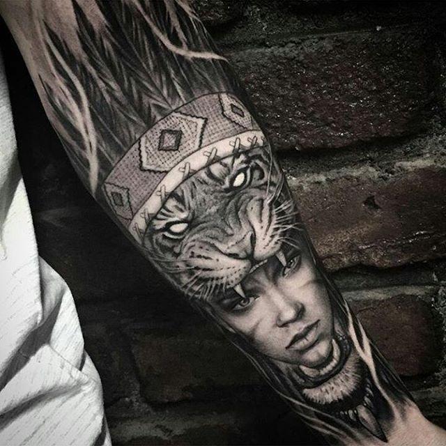 Tattoo work by: /gansogalvao/!!!) #skinartmag #tattoorevuemag…
