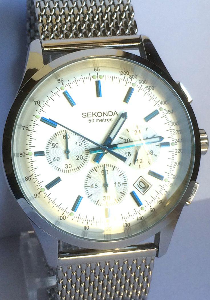 Sekonda Mesh Bracelet Chronograph Watch