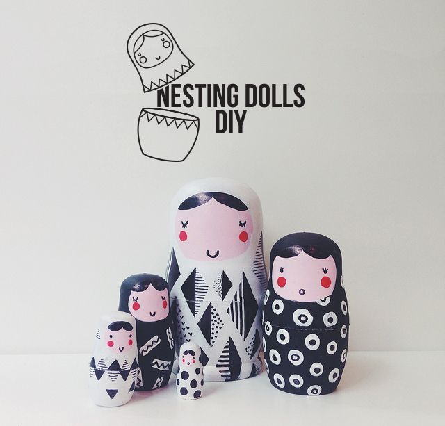 Little Birds Blog: Geometric pattern nesting dolls DIY