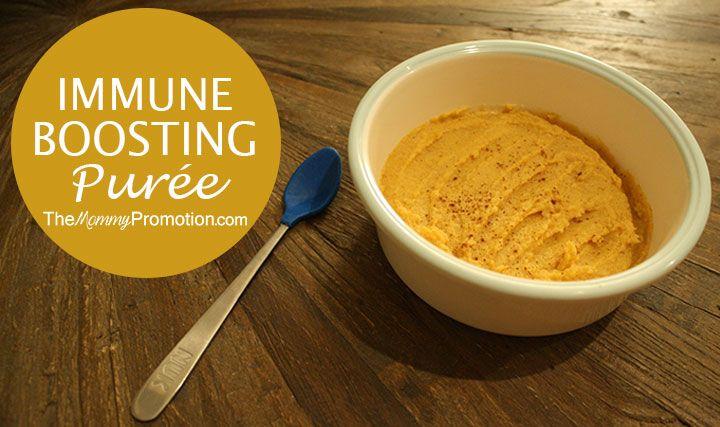 Immune-Boosting Chicken, Parsnip, Butternut Squash and Cinnamon Baby Puree Recipe | 6-8 Months