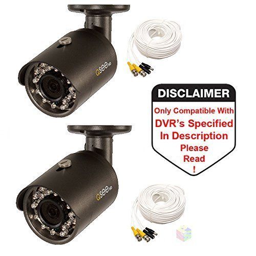 Q See Qca8050b 1080p Analog Bnc Hd Bullet Security Camera 2 Pack Ring Stick Up Cam Review Video Surveillance Cameras Security Camera Camera