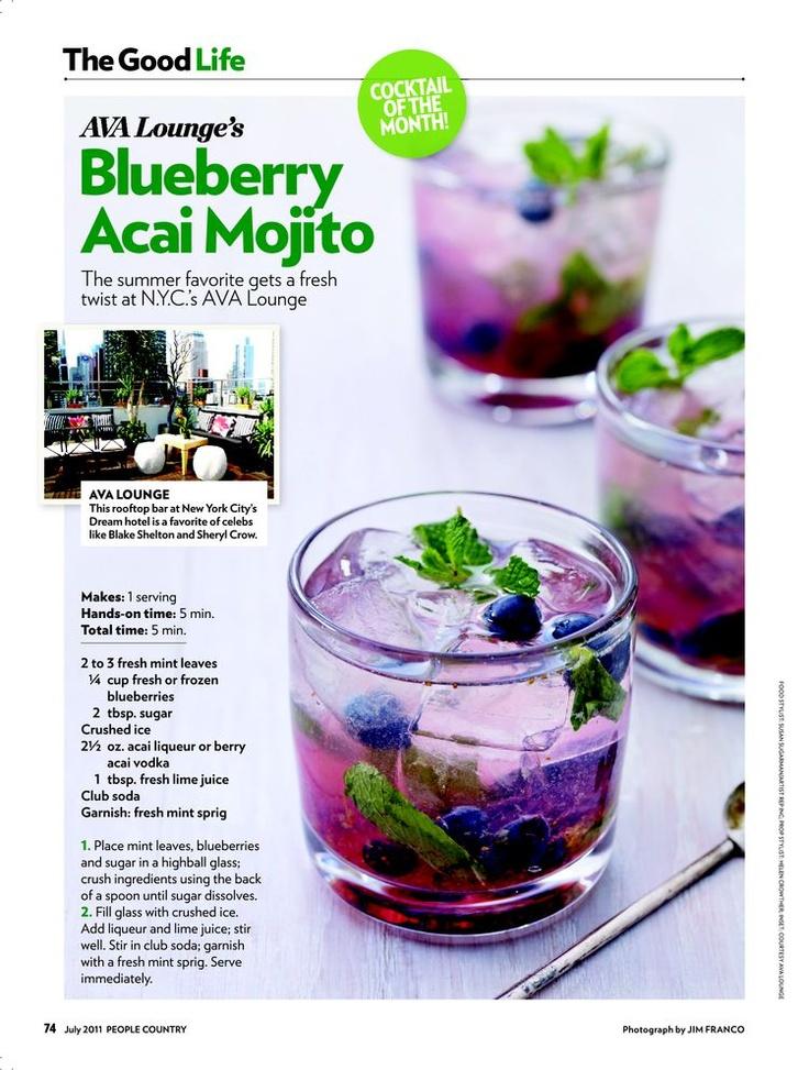 Blueberry Acai Mojito. So good!!