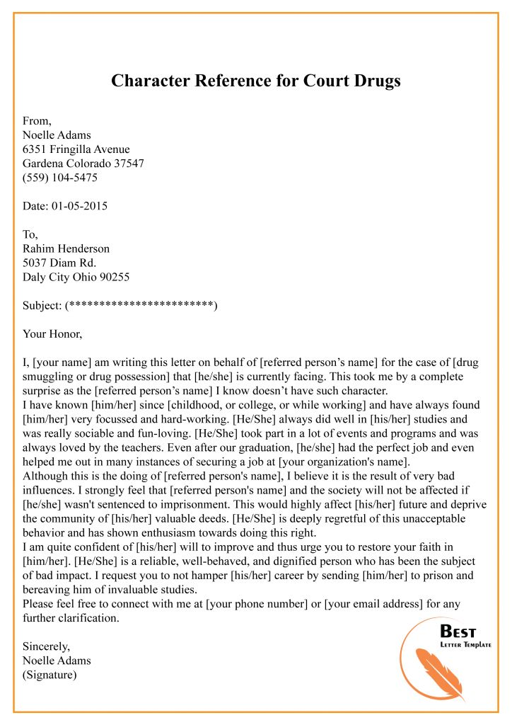 22+ Character reference letter for court example trends