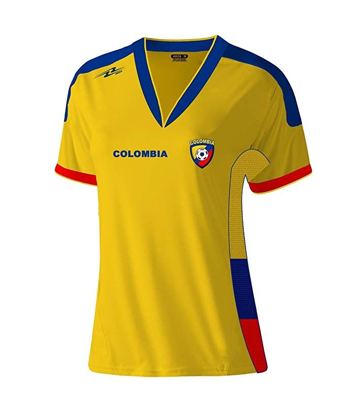 89898ffe8d569 Arza Sports Colombia Exclusive Design Women Soccer Jersey (Yellow ...