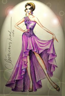 DESENHOS DE MODA: Desenhos de Moda - Sugestão de vestido de formatur...